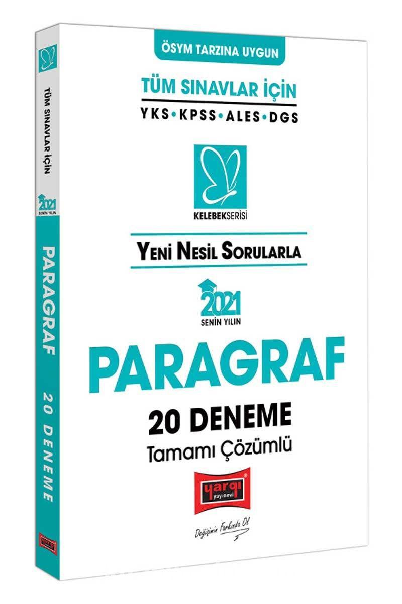 2021 Tüm Sınavlar İçin Paragraf Tamamı Çözümlü 20 Deneme PDF Kitap İndir