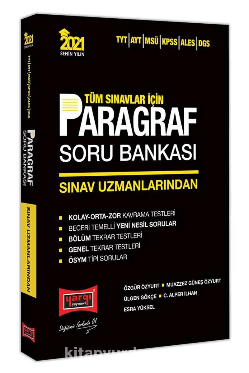 2021 Tüm Sınavlar İçin Sınav Uzmanlarından Paragraf Soru Bankası PDF Kitap İndir
