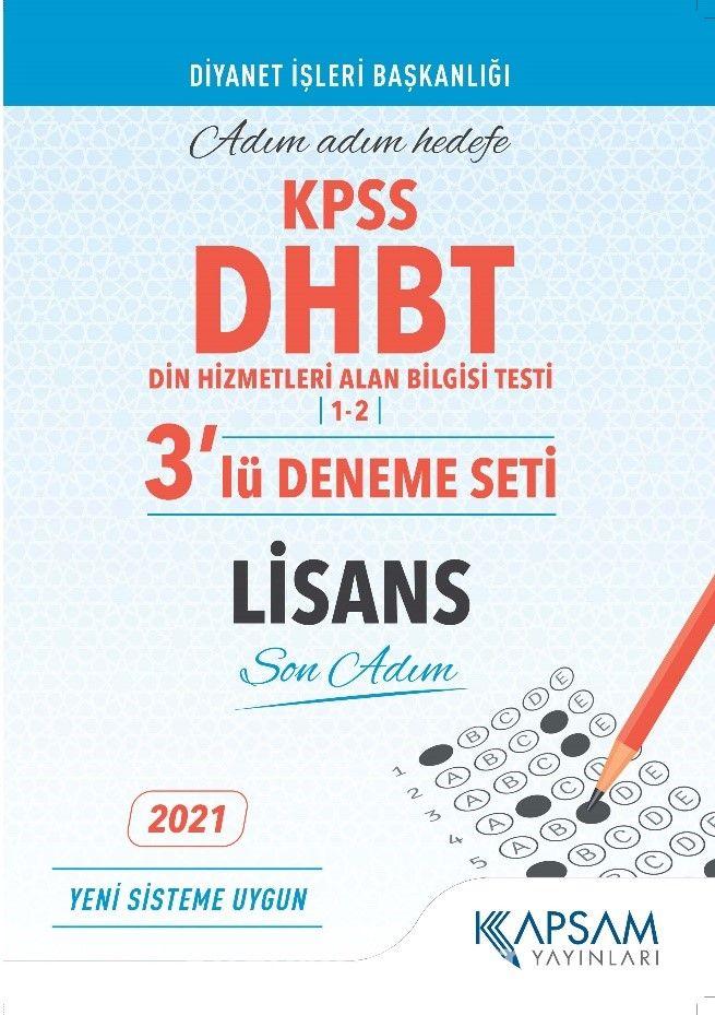 KPSS DHBT Lisans 3'lü Deneme Seti PDF Kitap İndir