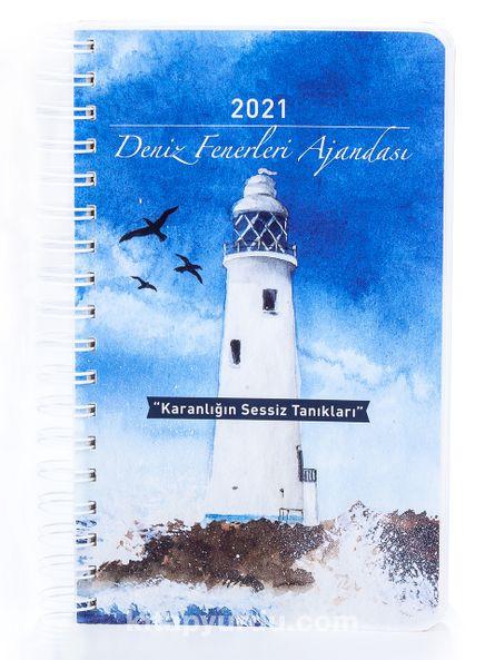 2021 Deniz Fenerleri Ajandası - Renkli Spiralli (Büyük Boy)