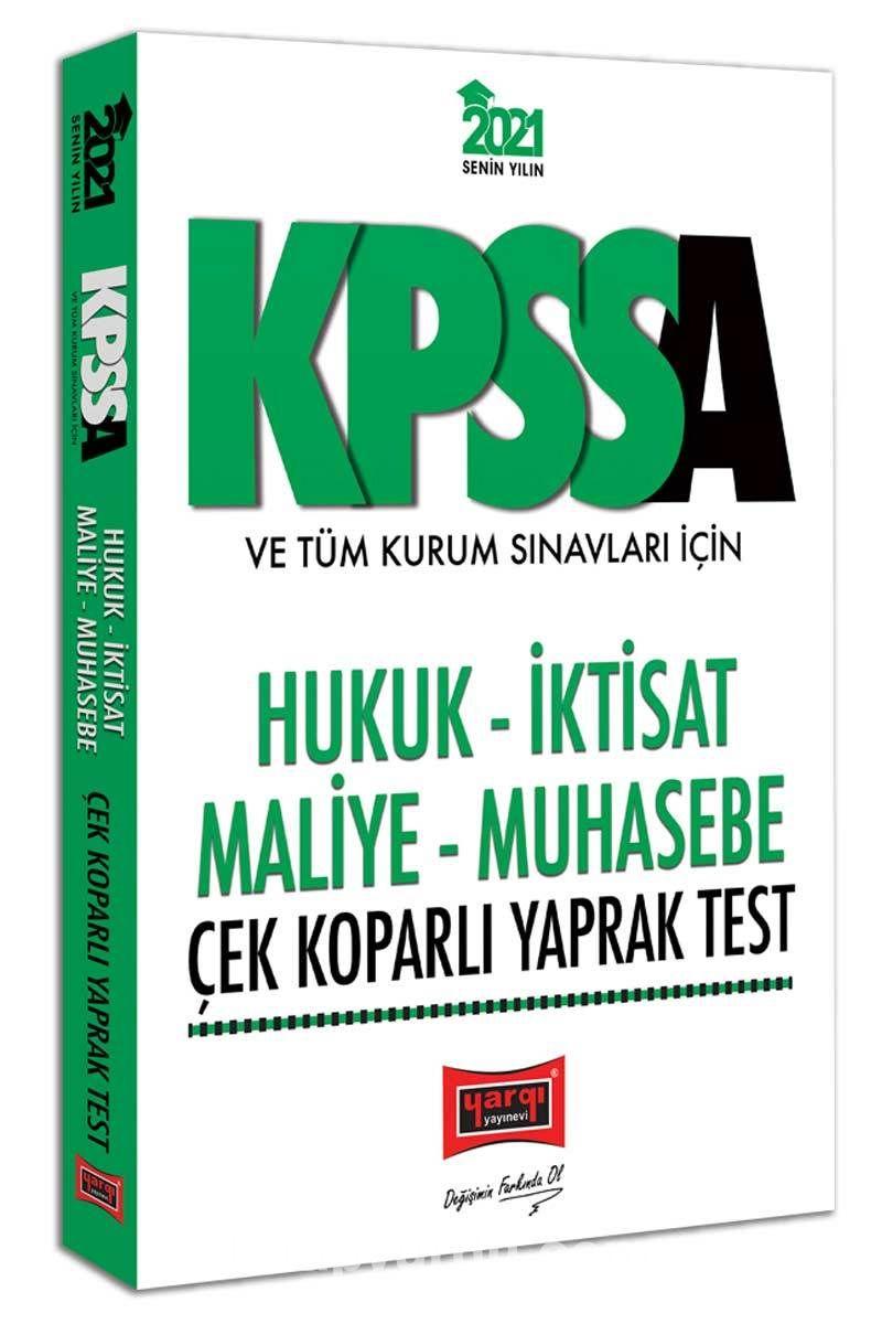 2021 KPSS A Grubu ve Tüm Kurum Sınavları İçin Hukuk-İktisat-Maliye-Muhasebe Çek Koparlı Yaprak Test PDF Kitap İndir