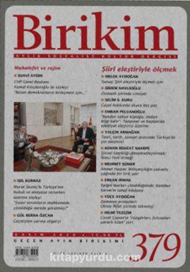 Birikim Aylık Sosyalist Kültür Dergisi Sayı:379 Kasım 2020 PDF Kitap İndir