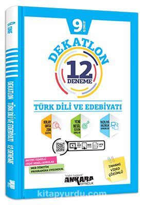 9. Sınıf Dekatlon Türk Dili ve Edebiyatı 12 Deneme  PDF Kitap İndir