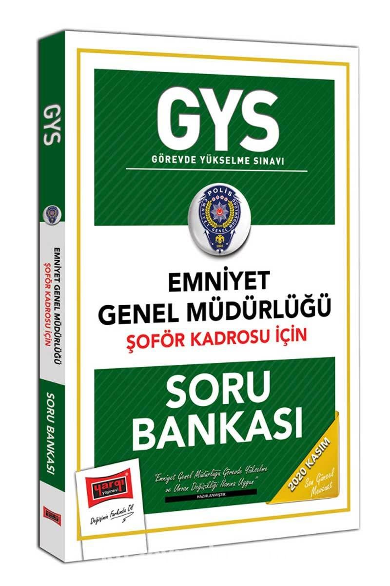 GYS Emniyet Genel Müdürlüğü Şoför Kadrosu İçin Soru Bankası PDF Kitap İndir