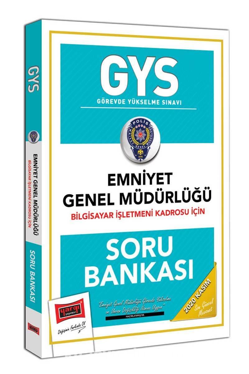 GYS Emniyet Genel Müdürlüğü Bilgisayar İşletmeni Kadrosu İçin Soru Bankası PDF Kitap İndir