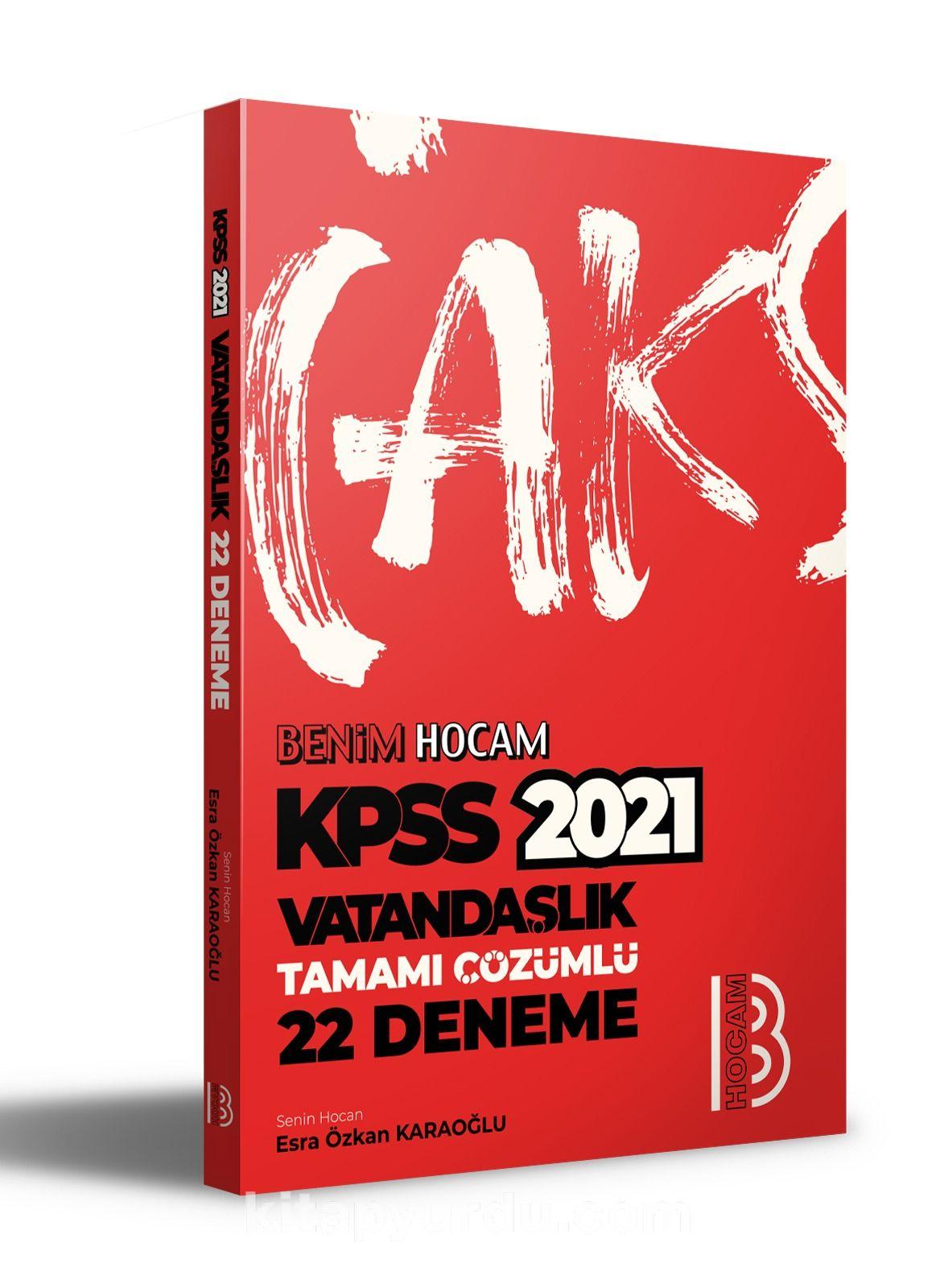 2021 KPSS Vatandaşlık Tamamı Çözümlü 22 Deneme  PDF Kitap İndir
