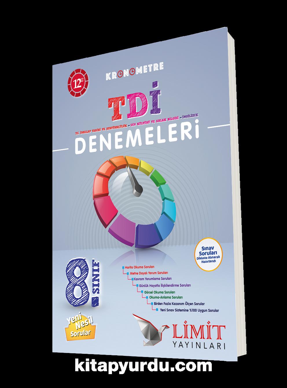 8. Sınıf Kronometre 12'li TDİ Denemeleri PDF Kitap İndir