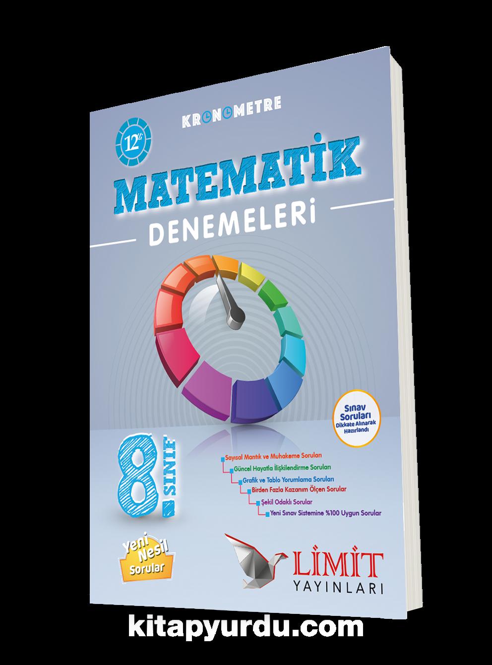 8. Sınıf Kronometre 12'li Matematik Denemeleri PDF Kitap İndir