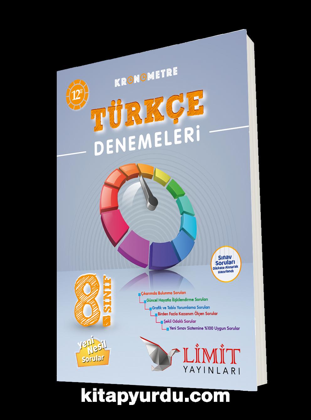 8. Sınıf Kronometre 12'li Türkçe Denemeleri PDF Kitap İndir