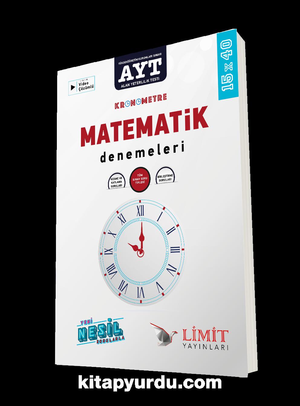 AYT Kronometre Matematik Denemeleri PDF Kitap İndir