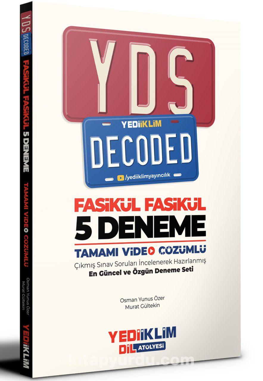 YDS Decoded Tamamı Video Çözümlü Fasikül 5 Deneme PDF Kitap İndir