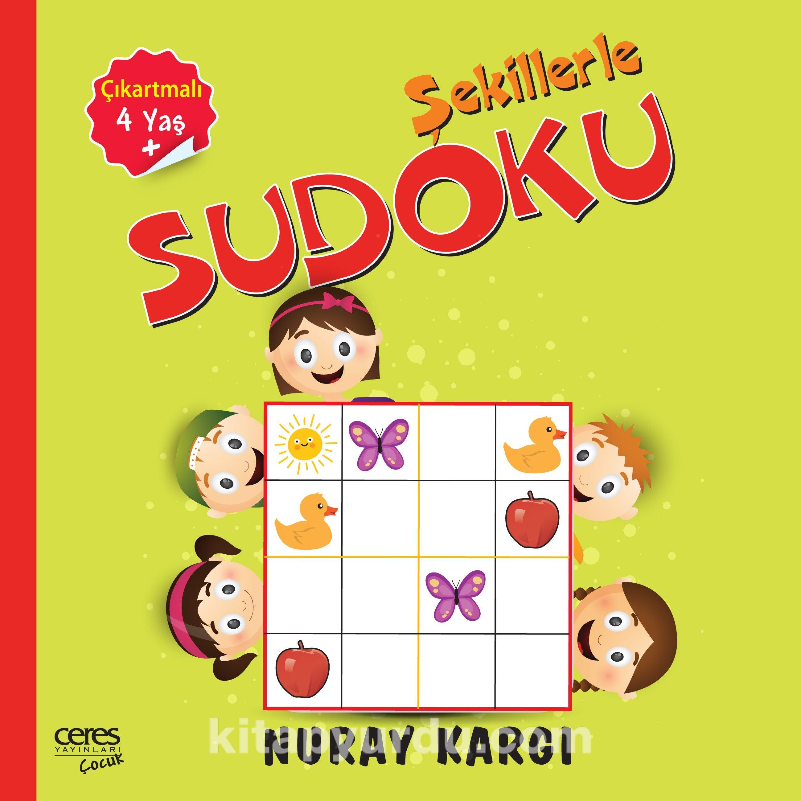 Çocuklar İçin Şekillerle Çıkartmalı Sudoku