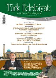 Türk Edebiyatı / Aylık Fikir ve Sanat Dergisi Sayı:507 Ocak 2016