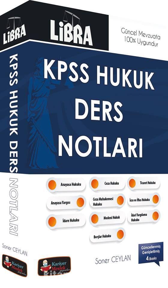 2016 KPSS A Grubu Libra Hukuk Ders Notları - Soner Ceylan pdf epub