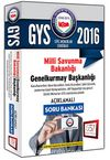 2016 GYS Milli Savunma Bakanlığı Açıklamalı Soru Bankası
