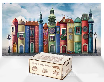 Büyük Kitap Kasabası - Ahşap Puzzle Poster 242 Parça (PPCCL-106-KT)