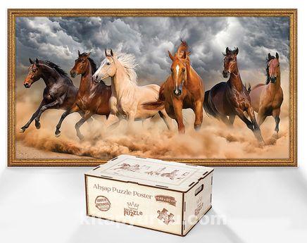 Çöl Atları - Ahşap Puzzle Poster 242 Parça (PPCCL-100-HV)