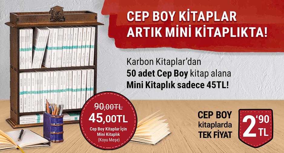 Cep Boy Kitaplar İçin Mini Kitaplık sadece 45TL!