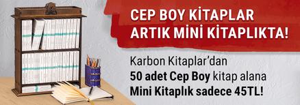 Karbon Kitaplar'dan 50 adet Cep Boy kitap alana Mini Kitaplık sadece 45TL.!