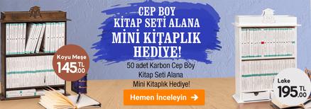 Cep Boy Kitap Seti Alana Mini Kitaplık Hediye!