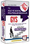2016 GYS Aile ve Sosyal Politikalar Bakanlığı Soru Bankası