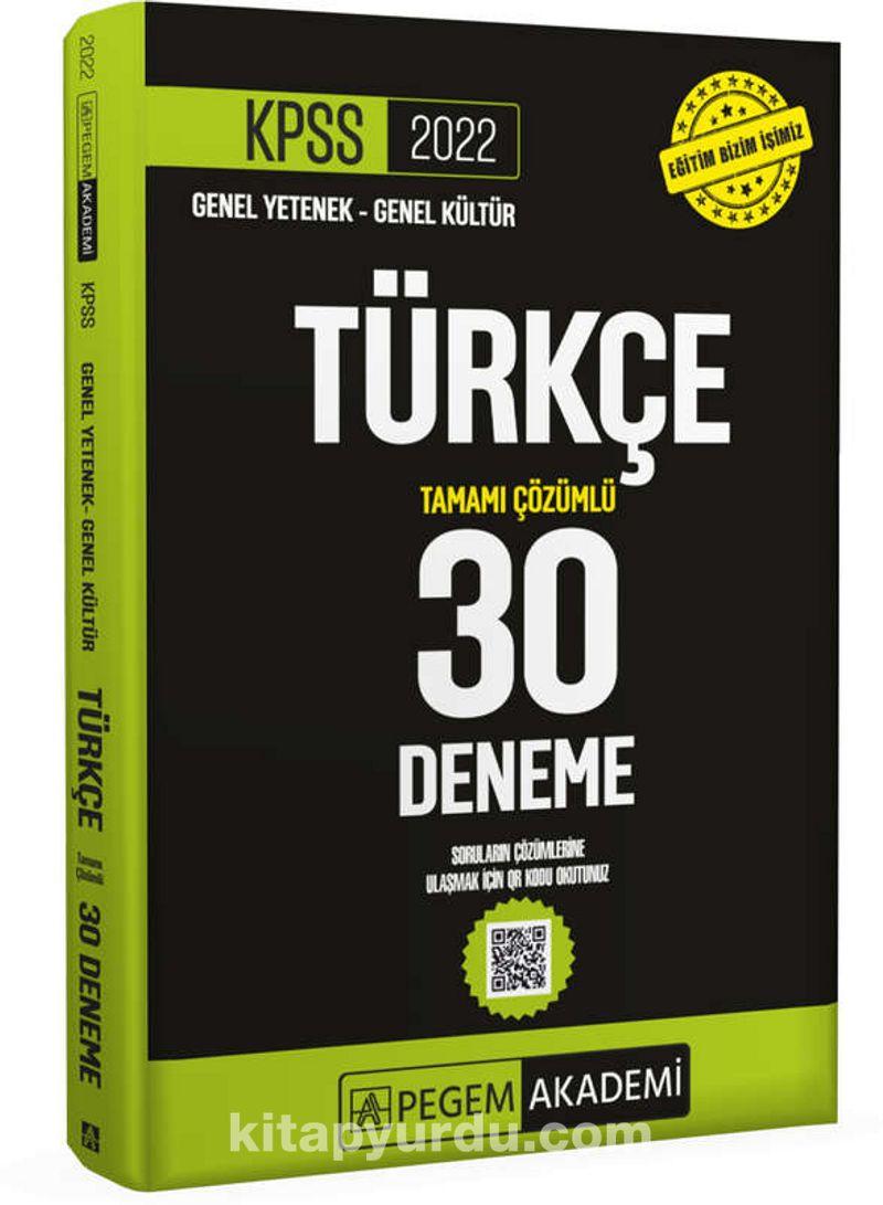 2022 KPSS Genel Yetenek - Genel Kültür Türkçe 30 Deneme Ekitap İndir   PDF   ePub   Mobi