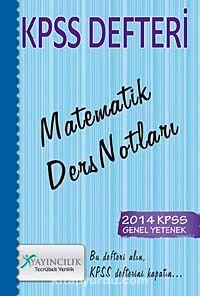 2014 KPSS Defteri Matematik Ders Notları -  pdf epub