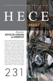 Sayı:231 Mart 2016 Hece Aylık Edebiyat Dergisi