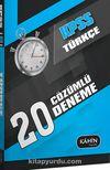 2016 KPSS Genel Yetenek Türkçe 20 Çözümlü Deneme