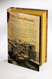 Kitap Şeklinde Ahşap Hediye Kutu - Gazete Nostalji