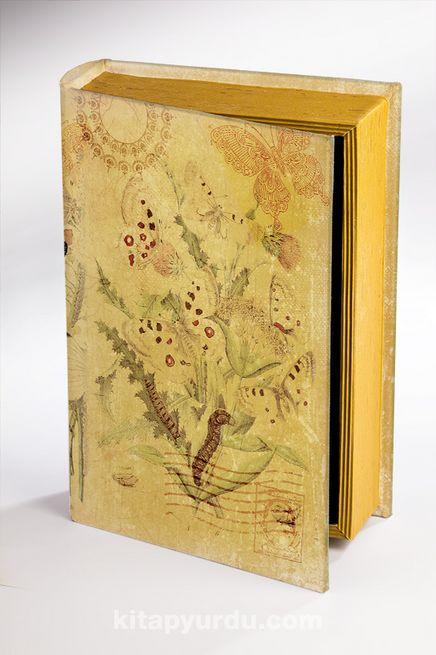 Kitap Şeklinde Ahşap Hediye Kutu - Kelebek Kartpostal