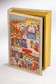 Kitap Şeklinde Ahşap Hediye Kutu - Osmanlı Minyatür