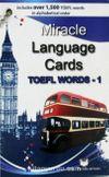 Miracle Language Cards İngilizce Dil Kartları / TOEFL Words 1
