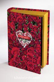 Kitap Şeklinde Ahşap Hediye Kutu - Sevgili Annem - Güller