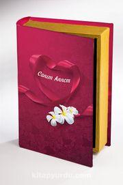 Kitap Şeklinde Ahşap Hediye Kutu - Canım Annem - Kurdela