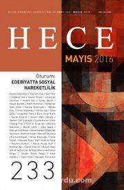 Sayı:233 Mayıs 2016 Hece Aylık Edebiyat Dergisi