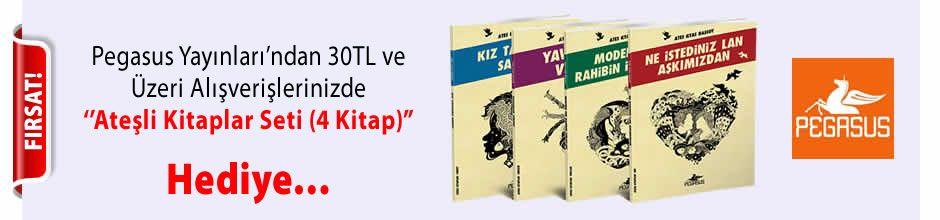 """Pegasus Yayınları'ndan 30TL ve Üzeri Alışverişlerinizde '' Ateşli Kitaplar Seti (4 Kitap) """" Hediye..."""