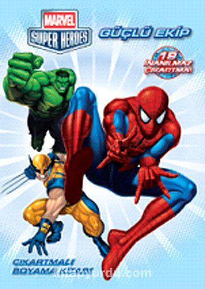 Marvel Süper Heroes Güçlü EkipÇıkartmalı Boyama Kitabı -  pdf epub
