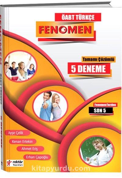 2016 ÖABT Türkçe Öğretmenliği Fenomen Tamamı Çözümlü 5 Deneme