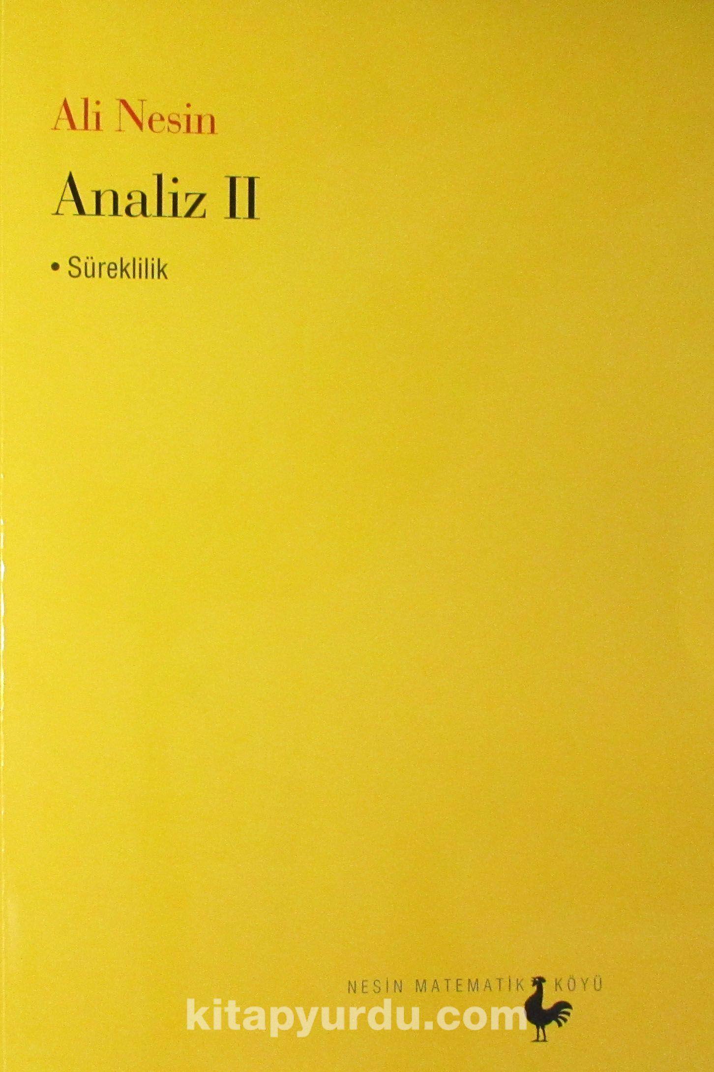 Analiz II - Süreklilik - Ali Nesin pdf epub