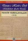 Divan-ı Harb-i Örfi/ Muhakematı Zabıt Ceridesi/Tercih Yargılamaları (1919)