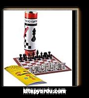 Satranç Kitabı &Silindir kutulu (zemin ve taşları hediye)