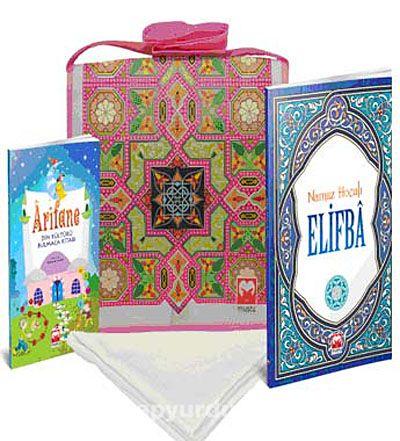 Çantalı Kur'an Kursu Eğitim Seti (Kız)