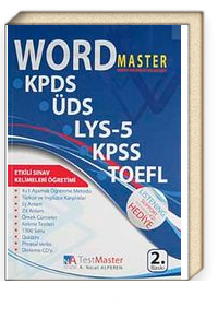 Word Master Sınav Hazırlık Kılavuzu <br />KPDS-ÜDS-LYS-5-KPSS-TOEFL (Cd Ekli)