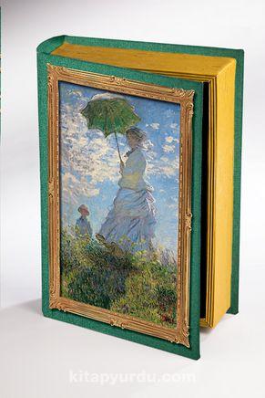 Kitap Şeklinde Ahşap Hediye Kutu - Monet