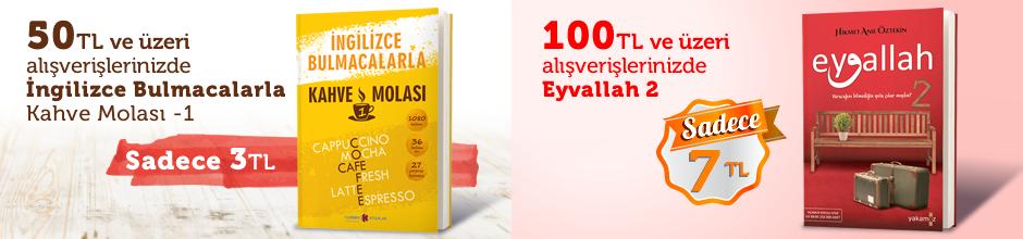 """50TL ve Üzeri Alışverişinize """" İngilizce Bulmacalarla Kahve Molası -1 """" Sadece 3 TL"""