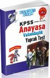 KPSS Genel Kültür Anayasa Vatandaşlık Yaprak Test