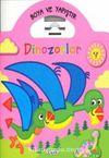 Boya ve Yapıştır Dinozorlar - Pembe