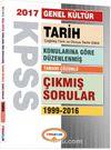 2017 KPSS Genel Kültür Tarih Konularına Göre Düzenlenmiş Tamamı Çözümlü Çıkmış Sorular 1999-2016