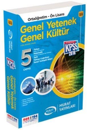 KPSS Ortaöğretim Ön Lisans Genel Yetenek Genel Kültür Konu Anlatımlı Tek Kitap - Kollektif pdf epub
